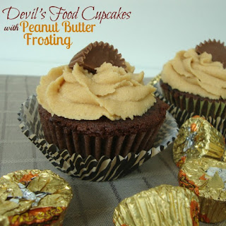 Devil's Food Cupcakes with peanut Butter Frosting