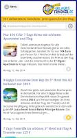 Screenshot of Urlaubstracker Schnäppchen