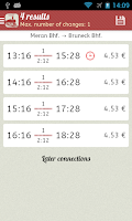 Screenshot of Timetable South Tyrol