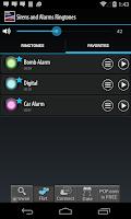 Screenshot of Sirens and Alarms Ringtones