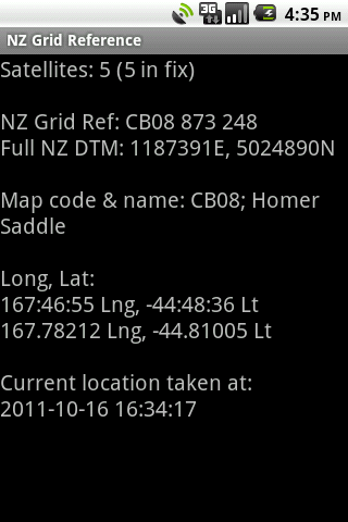 NZ Grid Reference