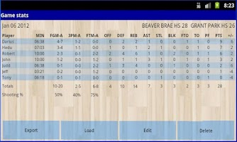 Screenshot of Ball'n Stats - Basketball