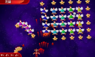 Screenshot of Chicken Invaders 4 Xmas