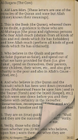 Screenshot of Quran in English