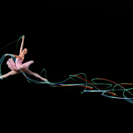 Flying With The Light by Indrawaty Arifin - Sports & Fitness Other Sports ( floor gymnastic, light,  )