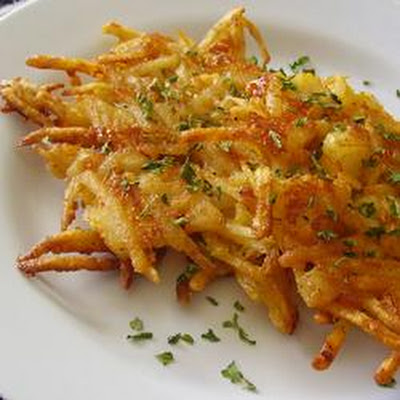 Casey Lauren's Cheesy Crab Sweet Potato Hashbrowns