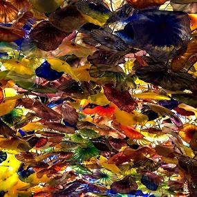 At Bellagios by Dunstan Vavasour - Abstract Patterns ( las vegas, bellagio, pattern, display, leaves,  )