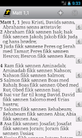 Screenshot of DataBibelen Bible in norwegian