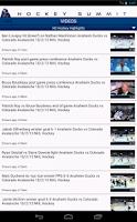 Screenshot of Hockey Summit: NHL News