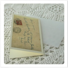 French postcard gift enclosure