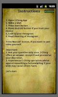 Screenshot of I Ching reading Book of Change