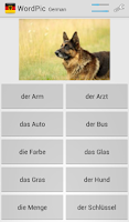 Screenshot of Learn German with WordPic