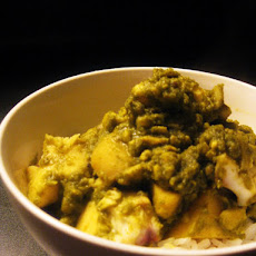 Hara Masala Pomfret- Indian Green Curry with Fish