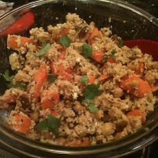 Moroccan Couscous and Smokey-Paprika Honey Roasted Carrot Salad