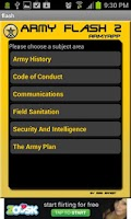 Screenshot of Army Flashcards 2