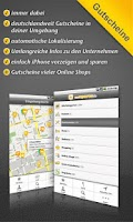 Screenshot of Gutscheine-App undSPAREN.de