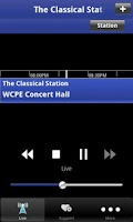 Screenshot of WCPE Public Radio App