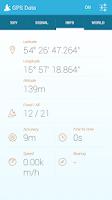 Screenshot of GPS Data