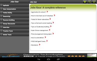 Screenshot of Jobs Gear -Aptitude Verbal MCQ
