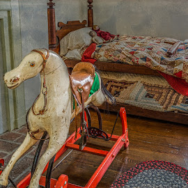 Rocking horse by Izzy Kapetanovic - Artistic Objects Toys ( child room, dolls, rocking horse, toys )