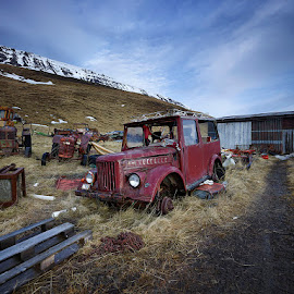 Aging Arrow Jeep by Fokion Zissiadis - Transportation Automobiles ( aging arrow jeep hvitserkur iceland car,  )