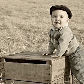 My Nephew by Timothy Corbett - Babies & Children Toddlers ( field, baby, crate, toddler, cute, boy )