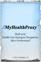 Screenshot of MyHealthProxy Health Surrogate