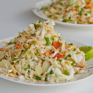 Napa Cabbage Almond Chicken Salad