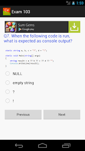 C# Quiz - Test your C# skills - screenshot