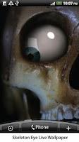 Screenshot of Skeleton Eye Live Wallpaper