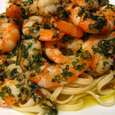 Shrimp and Shallot Linguini from Trader's Joes
