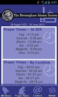 Screenshot of Birmingham Islamic Society App