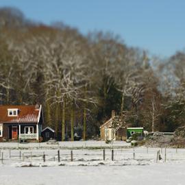 Schoorl in the snow by Mike Bing - Buildings & Architecture Homes ( schoorl, snow, holland, dutch, netherlands )