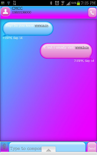 GO SMS - Cotton Candy SMS