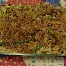 Rigatoni Al Forno (Baked Rigatoni) with Roasted Asparagus and On