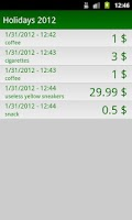 Screenshot of My Savings Tracker