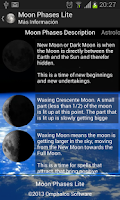 Screenshot of Moon Phases Pro