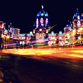 The Imperial Train Station of Bombay by Parag Katekar - City,  Street & Park  Historic Districts ( mumbai, train station, street, long exposure, photography )