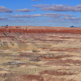 The Painted Desert by Alex Wender - Landscapes Deserts ( clouds, sky, painted, desert,  )