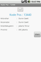 Screenshot of Kode Pos Indonesia