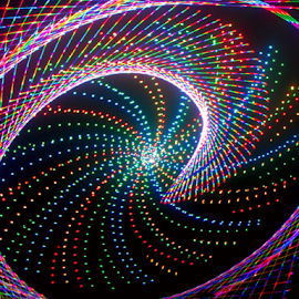 The Spiral. by Jim Barton - Abstract Patterns ( laser light, colorful, light design, laser design, laser, spiral, laser light show, light, science )