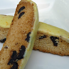Nut-Free Chocolate Chip Biscotti with Orange-Anise Glaze