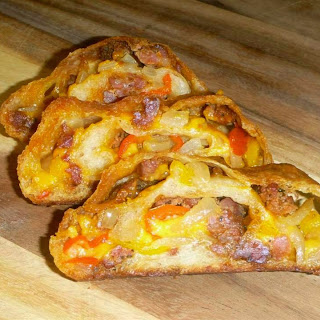 Sausage, Onion and Peppers Stuffed Bread