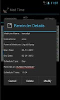 Screenshot of Med Time Reminder