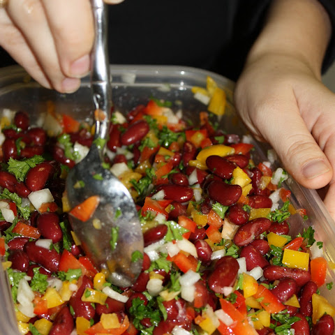 Mediterranean Inspired Kidney Bean Salad
