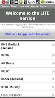 Screenshot of Classical Music Radio Lite