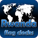 Rwanda flag clocks icon