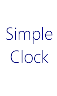 Simple Clock - screenshot