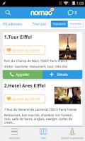 Screenshot of Nomao - Le carnet d'adresses