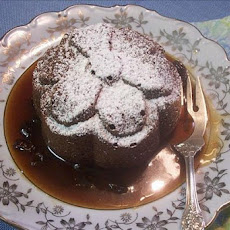 Ginger Cake with Raisin Sauce